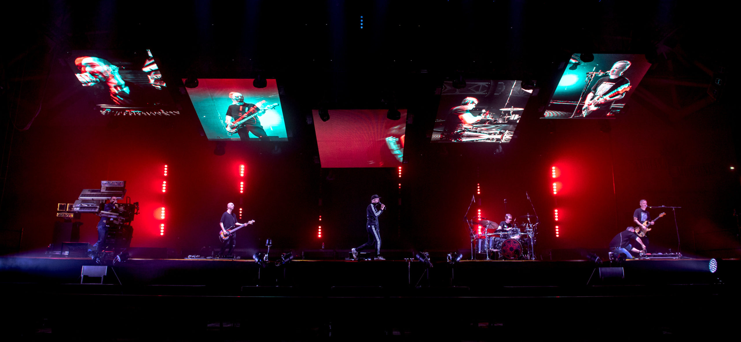 Scenografia multimediale al concerto dei Subsonica - Mirco Veronesi